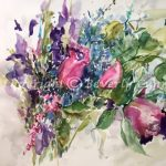 More and More Grace, original floral watercolor painting by Beverly Cunningham
