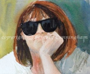 American Artist Beverly Cunningham, self portrait
