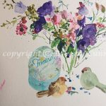 Sweet Friendship, original floral watercolor painting by Beverly Cunningham
